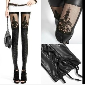 Pants - Just Arrived!✨ Sexy Leather & Lace Leggings